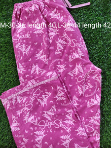 Pink Winter Wear Flannel Lounge Pant Pajama PJ01