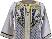 Load image into Gallery viewer, Semi Stitched Off White Pakistani Embroidered Kurti Kurta Tunic PK05