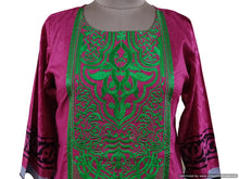 Load image into Gallery viewer, Semi Stitched Pink Pakistani Embroidered Kurti Kurta Tunic PK07