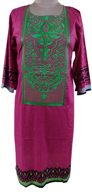 Semi Stitched Pink Pakistani Embroidered Kurti Kurta Tunic PK07