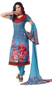 Blue Pashmina Embroidered Dress Material PHM2A - Ethnic's By Anvi Creations
