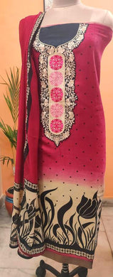 Maroon Pashmina Embroidered Dress Material PHM13