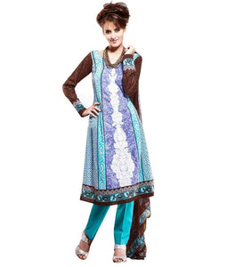 Cotton Blue Salwar Kameez Churidar Fabric SC8140A - Ethnic's By Anvi Creations