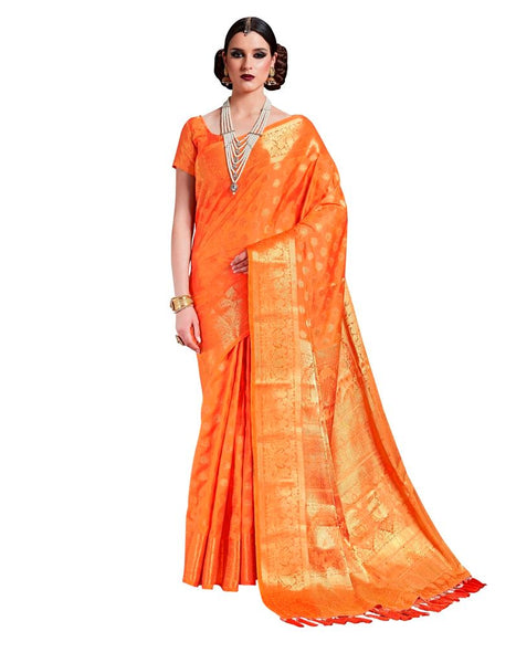 Yellow Two Tone Silk Saree RJ08