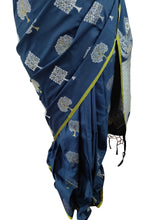 Load image into Gallery viewer, Designer Teal Blue Weaven Resham Silk Saree RJTB - Ethnic's By Anvi Creations