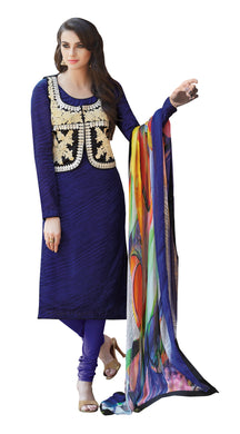 Designer Blue Embellished Bhagalpuri Dress Material SC6461A - Ethnic's By Anvi Creations