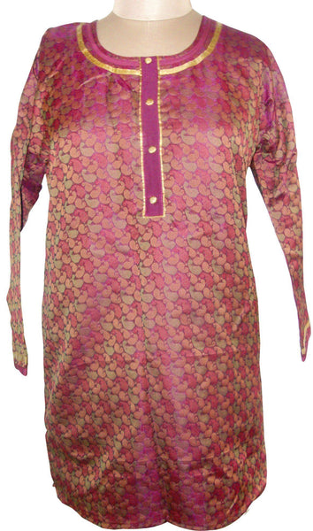 Purple Cotton Jequard  Stitched Kurta dress Size 44 SC504