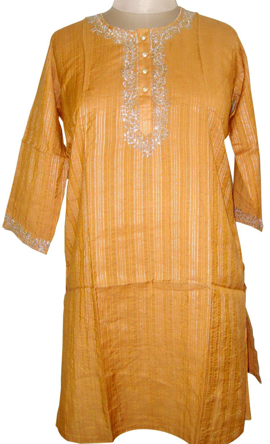 Brown Cotton Stitched Kurta Dress Size 44 SC522 - Ethnic's By Anvi Creations