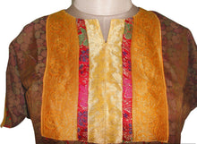 Load image into Gallery viewer, Brown Banarsi Jequard Semi Stitched Kurta SC523 - Ethnic's By Anvi Creations