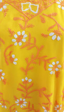 Load image into Gallery viewer, Yellow Chiffon Chikan work Stitched Kurta Dress Size 42 SC552 - Ethnic's By Anvi Creations