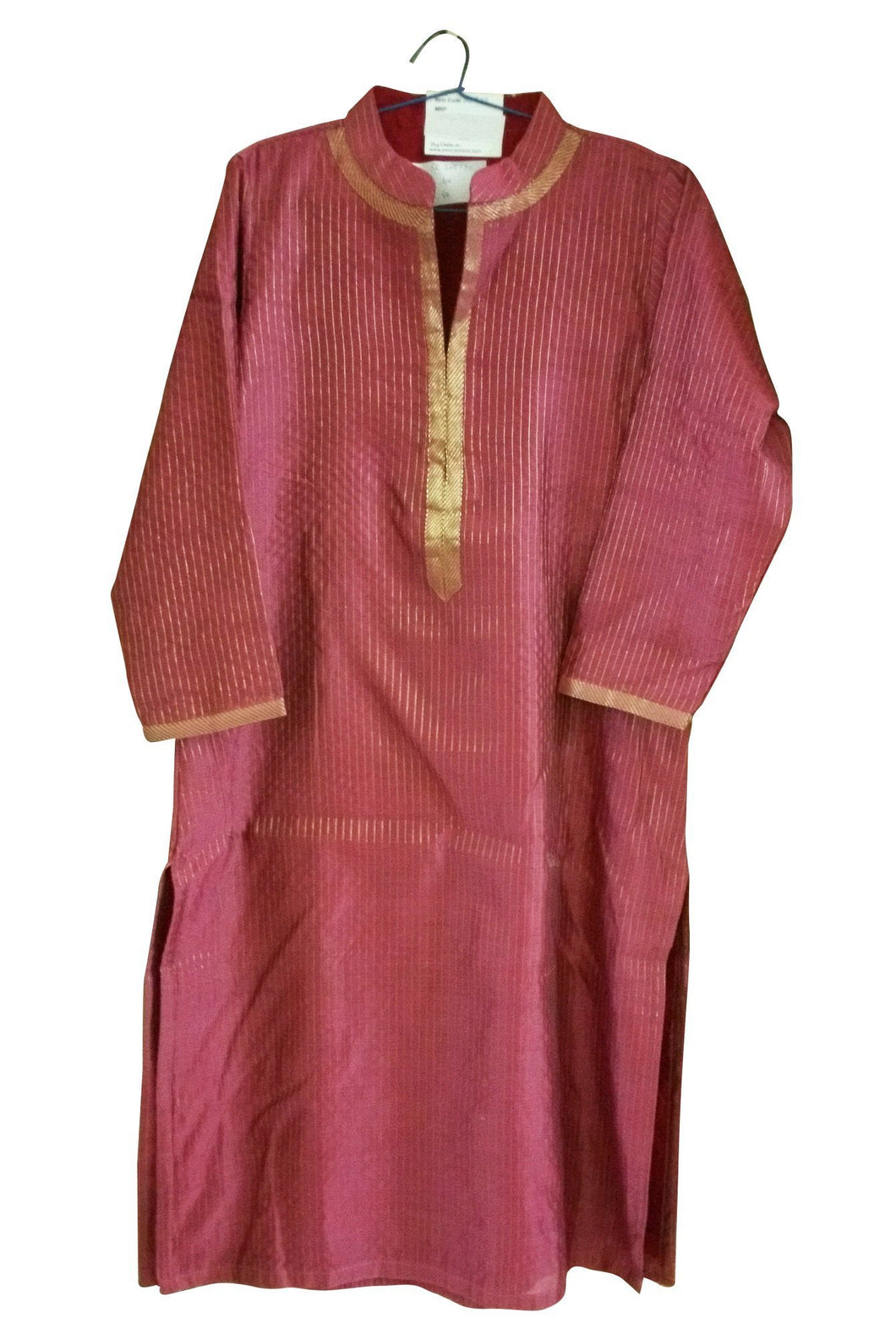 Pink Cotton Silk Stitched Kurta Kurti Top Dress Size 40 SC730 - Ethnic's By Anvi Creations