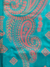 Load image into Gallery viewer, Turquoise Green Fine Pashmina Kani Zari Weave Salwar Kameez Dress Material SH09
