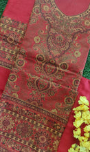 Load image into Gallery viewer, Red Fine Pashmina Kani Weave Salwar Kameez Dress Material SH15