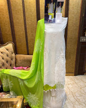 Load image into Gallery viewer, Designer Pakistani Replica Sana Safina White Cotton Embroidered Dress Material SSS9004