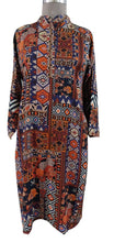 Load image into Gallery viewer, Semi Stitched Orange Digital Printed Faux Pashmina Kurti 03