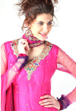 Load image into Gallery viewer, Magenta Purple Net Salwar Kameez Churidar Dress Material SCA2007A