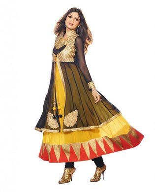 Shilpa Shetty Exclusive Yellow Anarkali SC6009 - Ethnic's By Anvi Creations