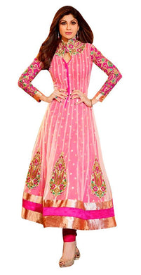 Shilpa Shetty Exclusive Pink Anarkali SC6013 - Ethnic's By Anvi Creations