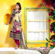 Charger l'image dans la galerie, Cream Velvet Printed Dress Material V103 - Ethnic's By Anvi Creations