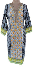 Load image into Gallery viewer, Designer Black Semi Stitched Kurti Kurta Embroidered ZS2A - Ethnic's By Anvi Creations