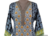 Designer Black Semi Stitched Kurti Kurta Embroidered ZS2A