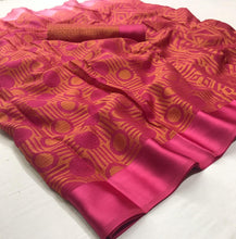 Load image into Gallery viewer, Designer Pink Kota Brasso Cotton Silk Saree ZU03 - Ethnic's By Anvi Creations