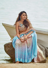 Load image into Gallery viewer, Designer Beige Blue Kota Brasso Cotton Silk Saree ZU05 - Ethnic's By Anvi Creations