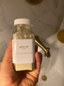 golden milk bath soak