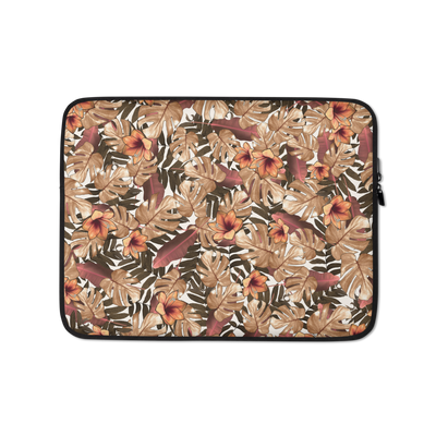 Orange Floral Laptop Case - Laptop Bags Australia