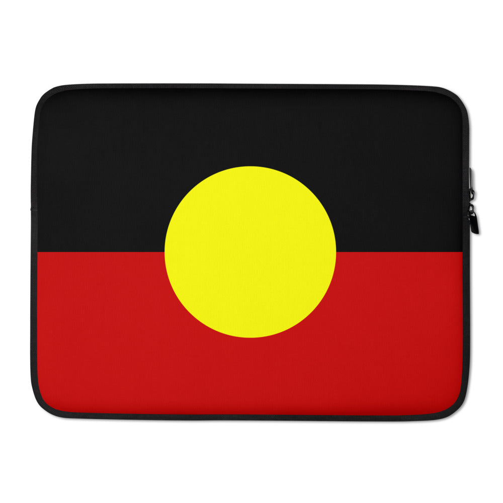 Aboriginal Flag Laptop Sleeve - Laptop Bags Australia