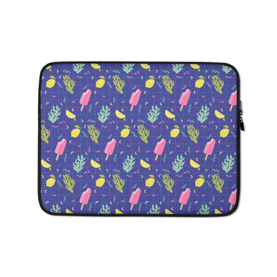Purple Lemon Sorbet Laptop Sleeve - Laptop Bags Australia