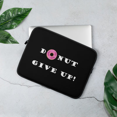 Donut Give Up Laptop Sleeve - Laptop Bags Australia
