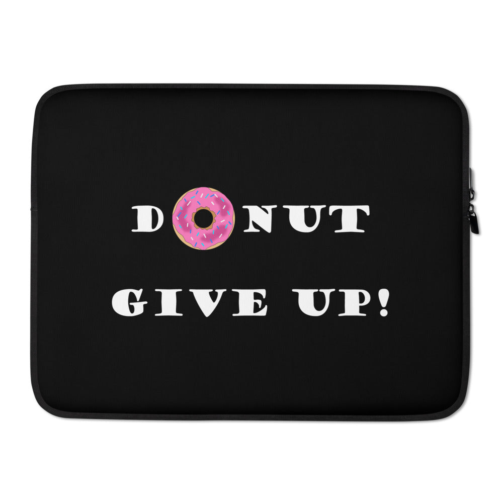 Donut Give Up Laptop Sleeve