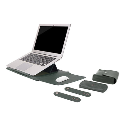 Leather Sleeve Set With Support Frame for MacBook 15-inch
