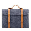 Leather Strip Wool Laptop Sleeve 13-inch - Laptop Bags Australia