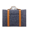 Leather Strip Wool Laptop Sleeve 15-inch - Laptop Bags Australia