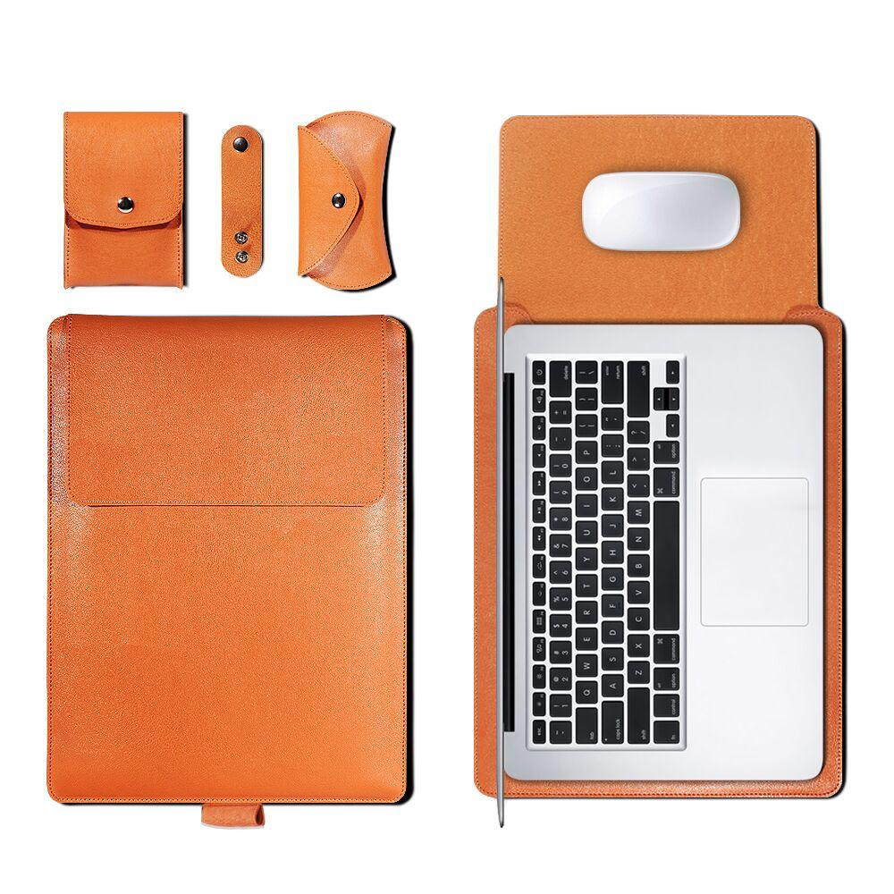Leather Sleeve Set With Support Frame for MacBook 13-inch