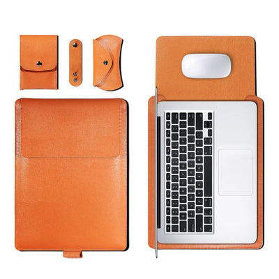 Leather Sleeve Set With Support Frame for MacBook 15-inch - Laptop Bags Australia