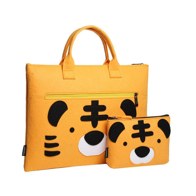 Sweet Tiger Wool Laptop Sleeve Bag Set - Laptop Bags Australia