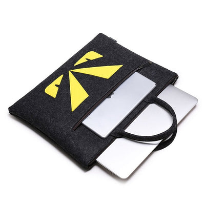 Bugs Eyes Wool Laptop Sleeve Bag Set - Laptop Bags Australia