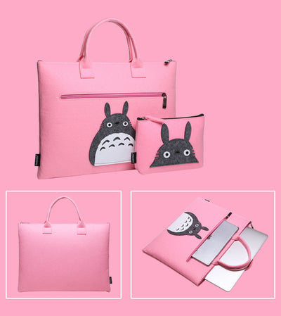 Cat Spirit Wool Laptop Sleeve Bag Set - Laptop Bags Australia