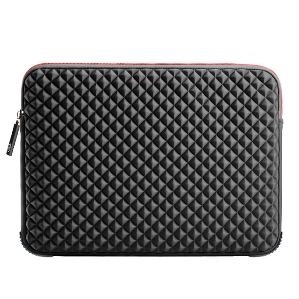 Black Plaid Laptop Sleeve 17-inch - Laptop Bags Australia