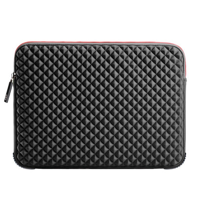 Black Plaid Laptop Sleeve 17.3-inch - Laptop Bags Australia