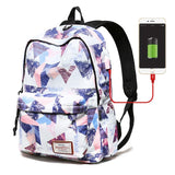 USB Charging Laptop Backpack for Women