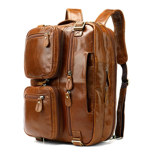 The Traveller Leather Laptop Bag