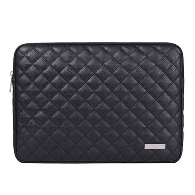 Leather Plaid Laptop Sleeve 14-inch