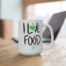 Load image into Gallery viewer, I Love Food Mug