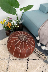 Moroccan pouf cover