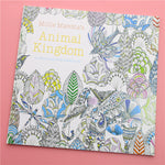 24 Pages Animal Kingdom English Edition Coloring Book