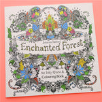 24 Pages Enchanted Forest English Edition Coloring Book